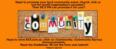 Community Service Announcements